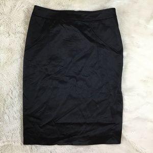 ALESSANDRO DELL' ACQUA Women's Black Pencil Skirt